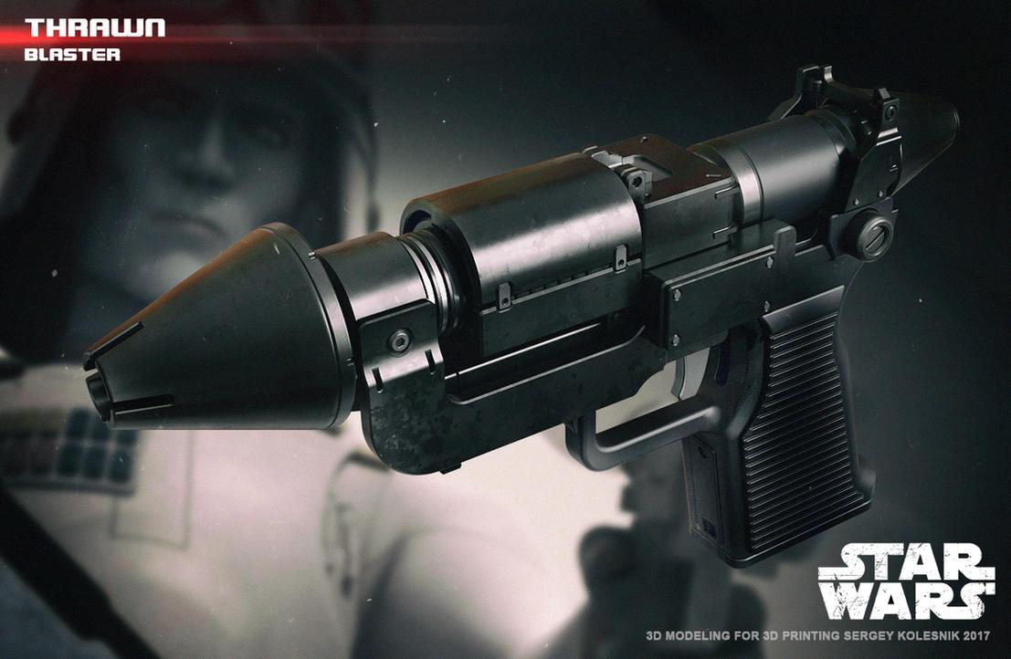 Thrawn blaster by ksn-art