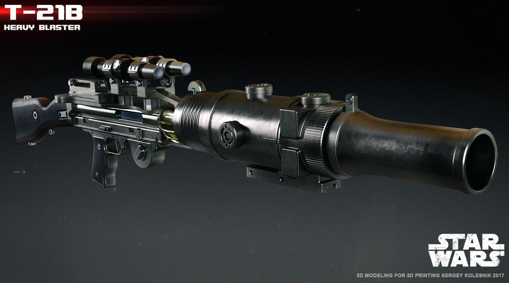 T-21B heavy blaster by ksn-art