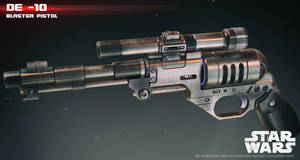DE 10 blaster pistol by ksn-art
