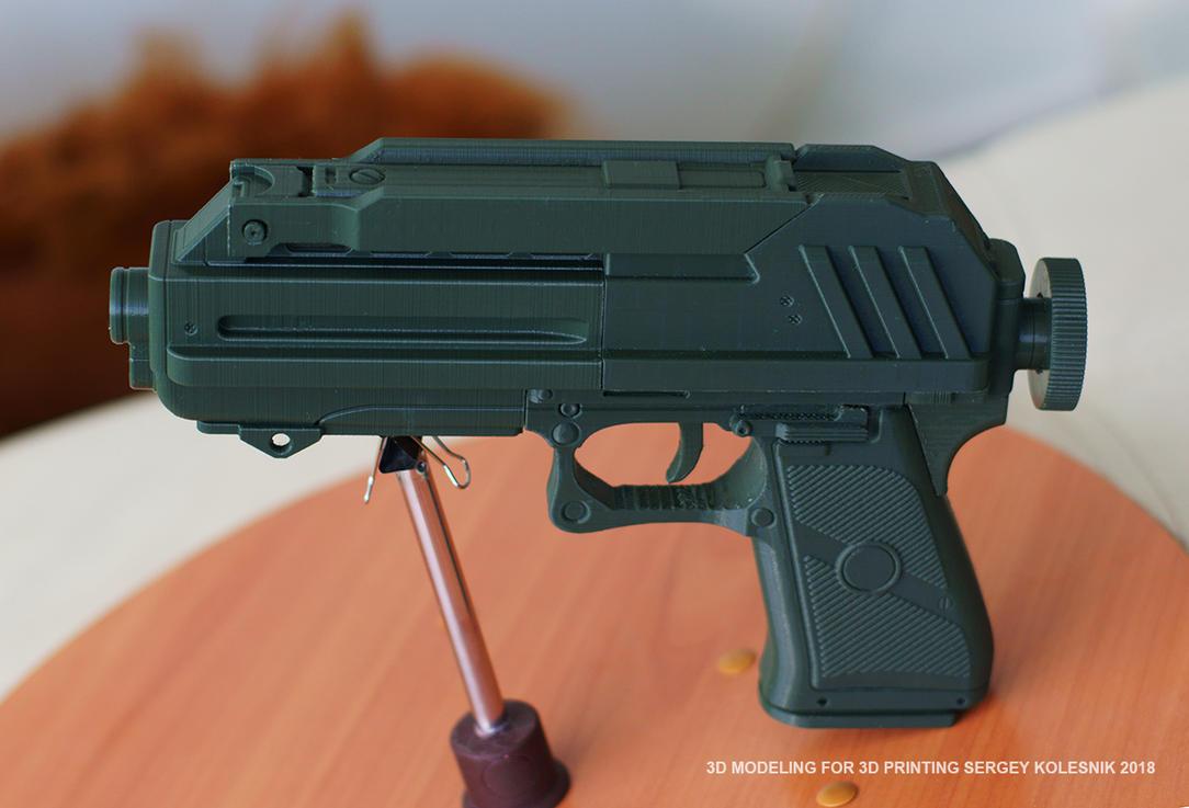 DC17 Blaster Pistol by ksn-art