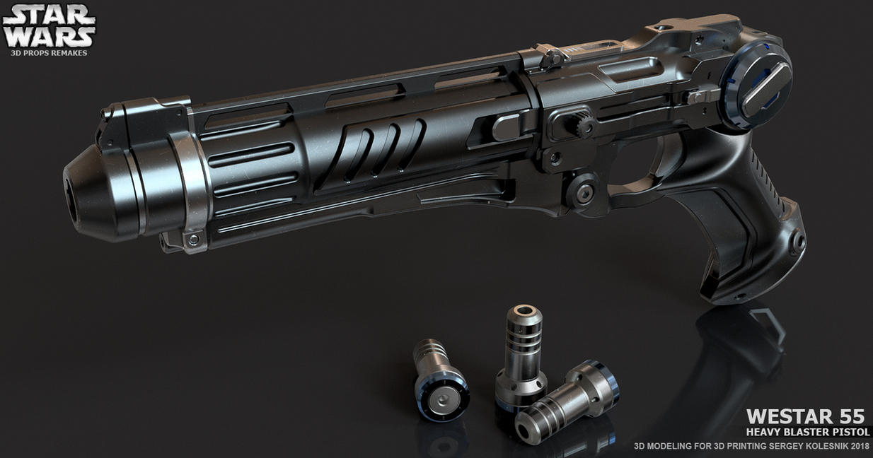 Westar 55 Heavy blaster pistol by ksn-art