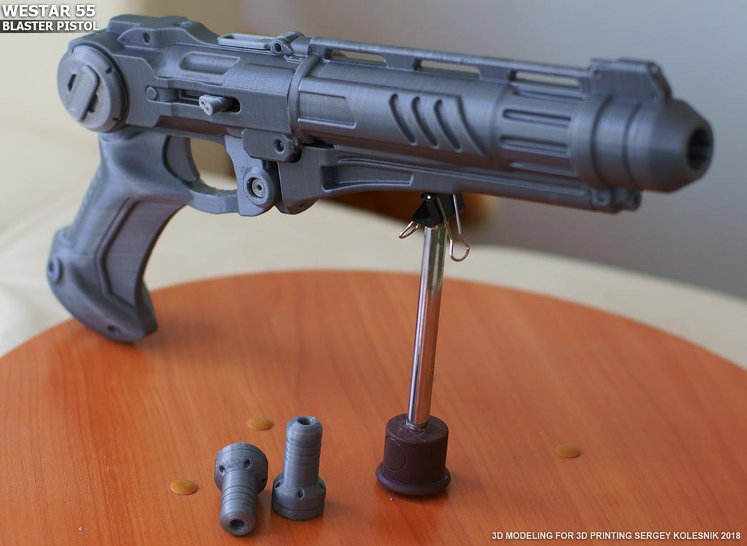 Westar 55 blaster pistol by ksn-art