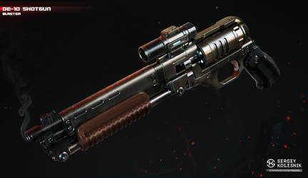 DE-10S shotgun blaster