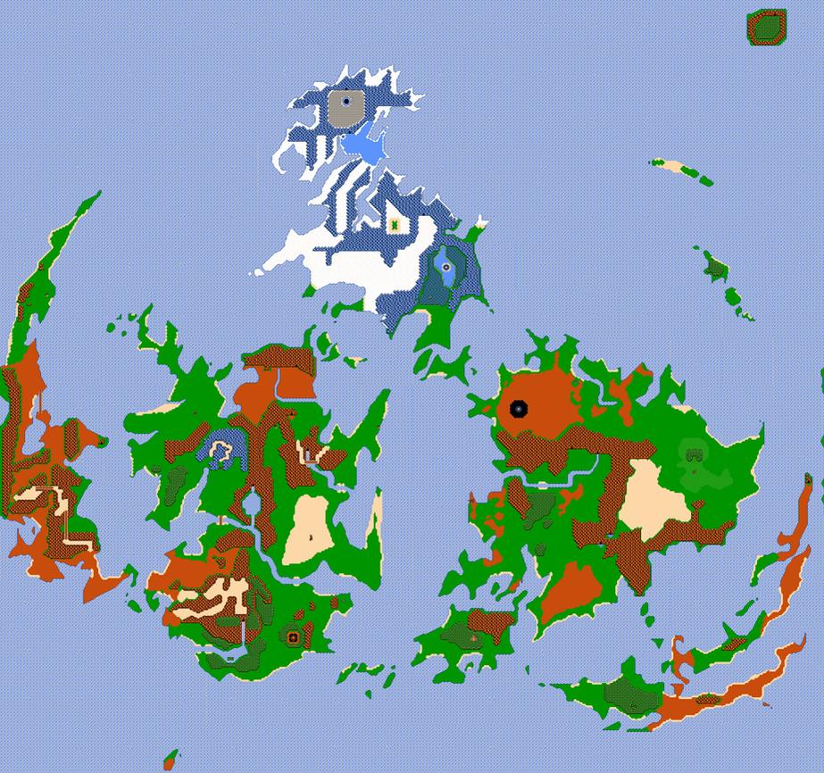 Final Fantasy VII World Map NES 8 BIT Styled by Shadowlugia2009 on ...