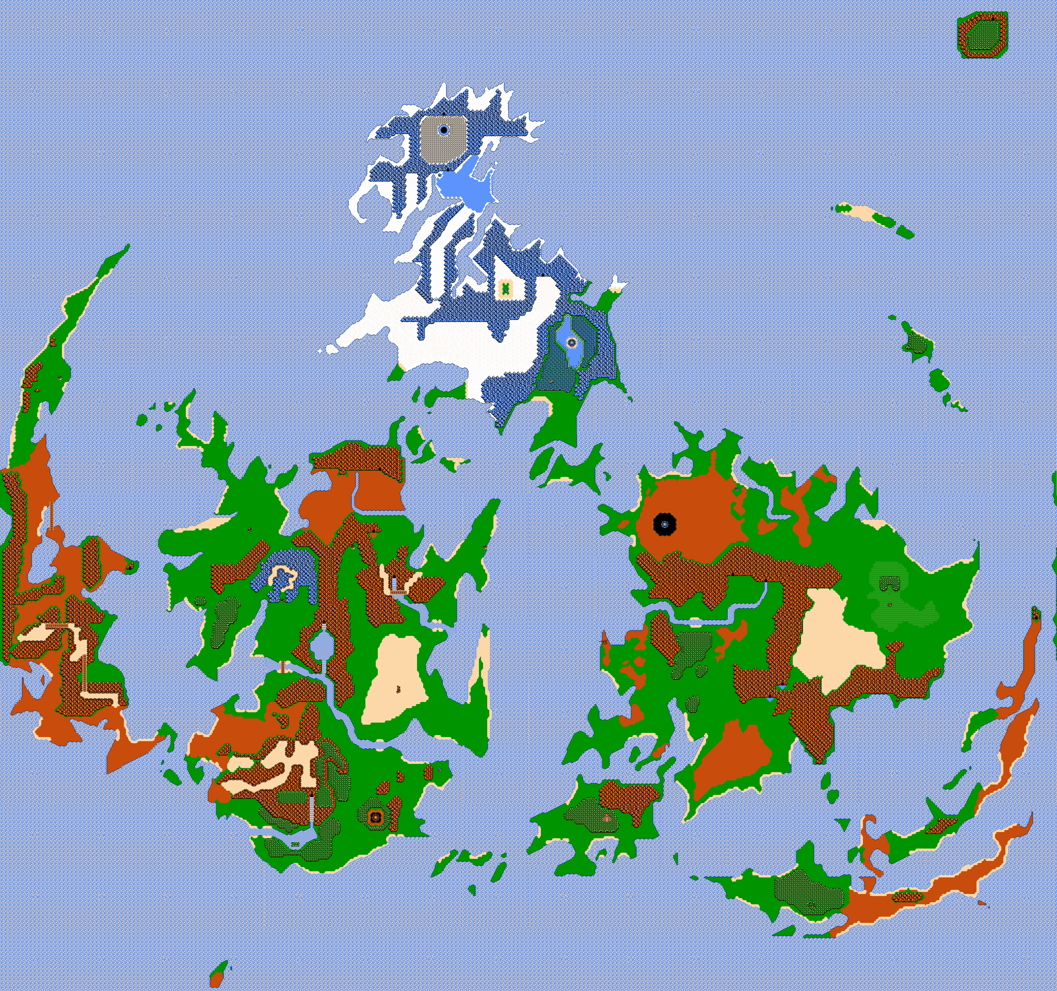 Final Fantasy VII World Map NES 8 BIT Styled by ...
