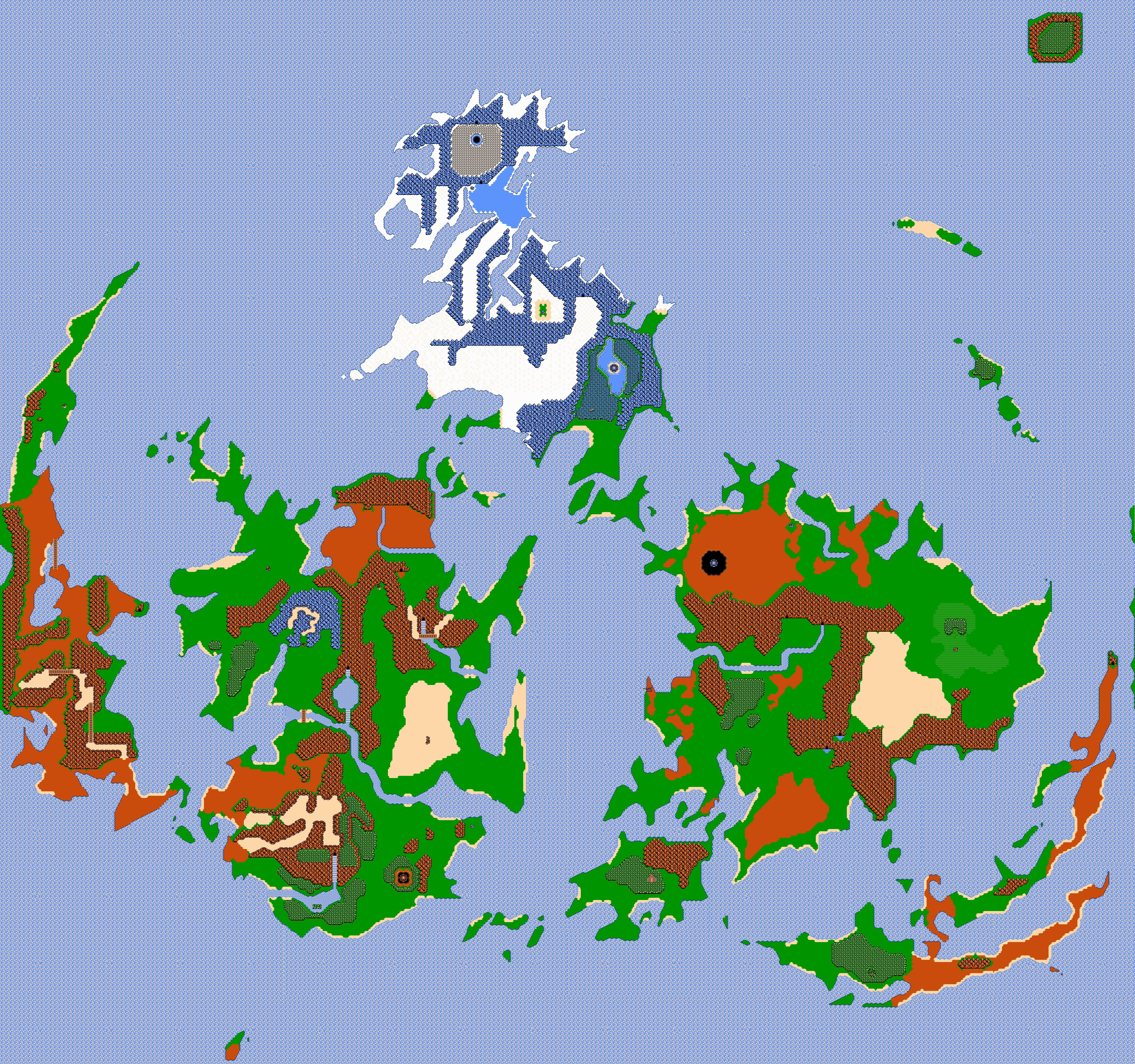 Final Fantasy Vii World Map Nes 8 Bit Styled By Shadowlugia2009 On