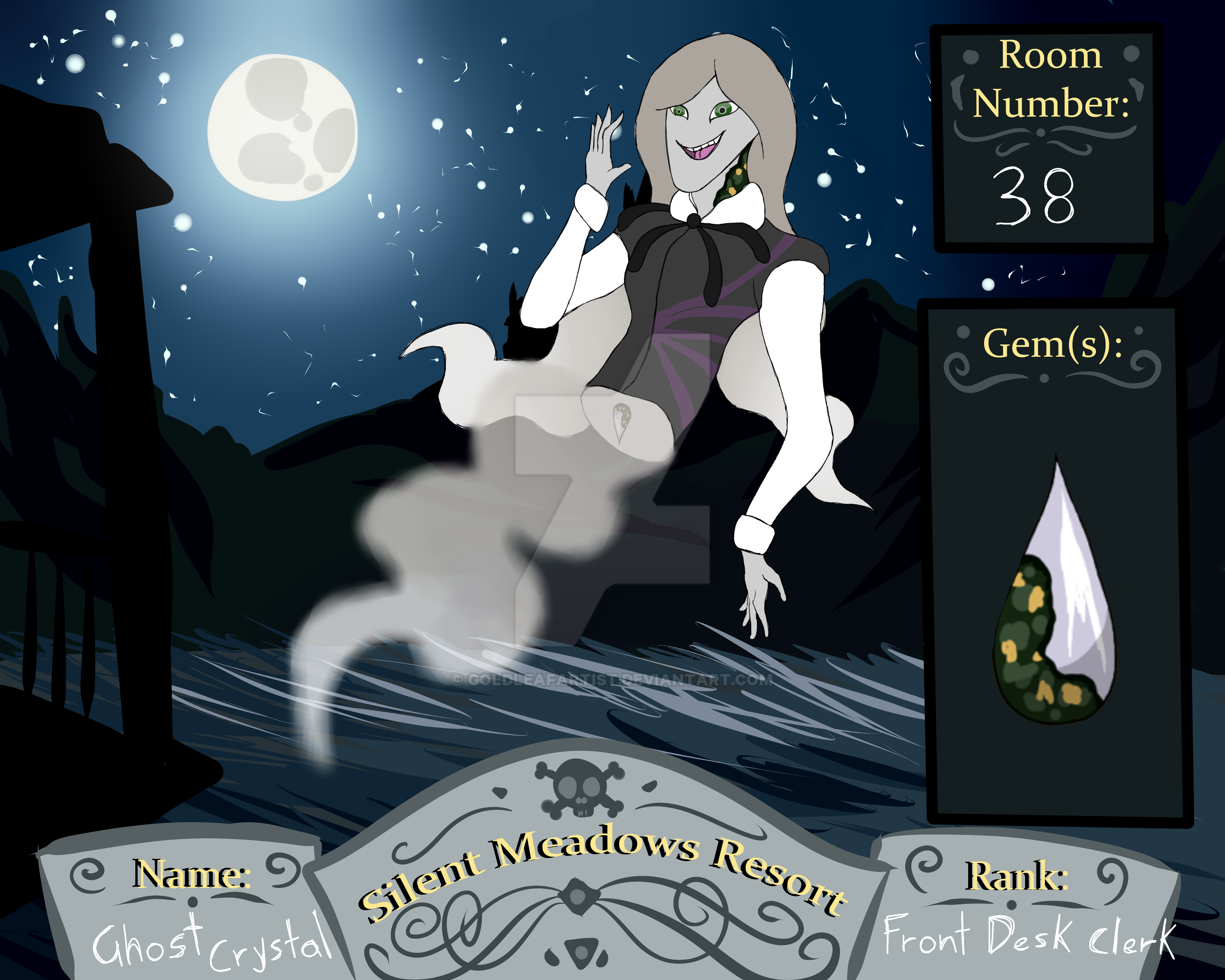Silent Screech Hotel App: Ghost Crystal by GoldleafArtist on DeviantArt