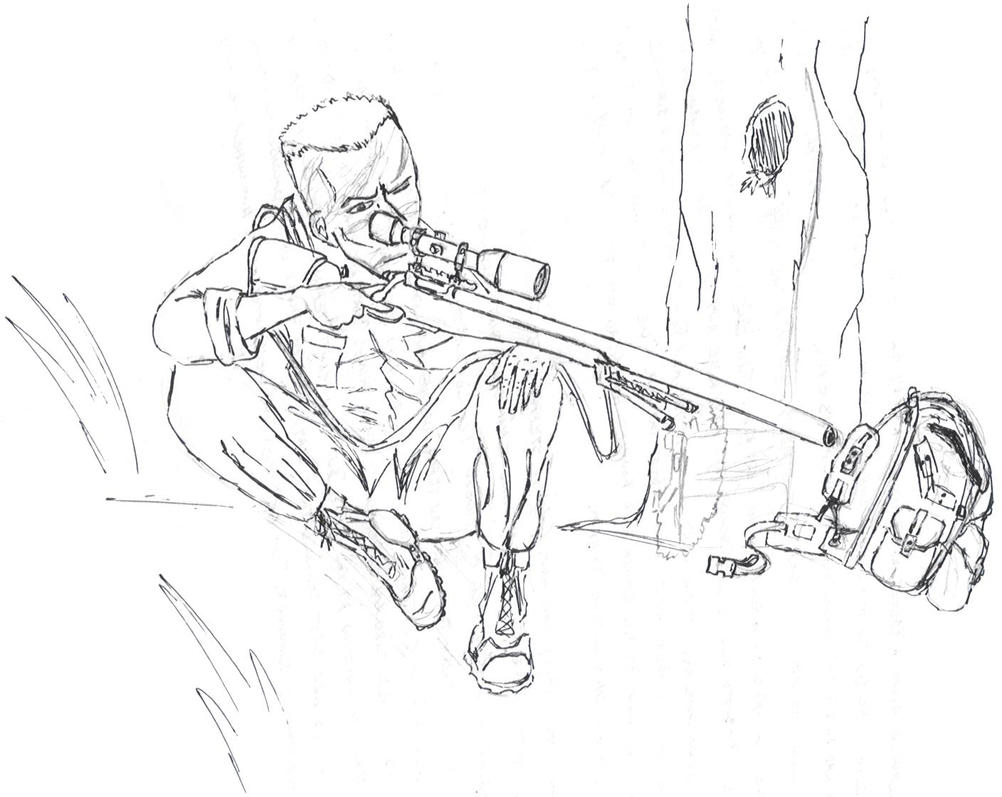 sniper coloring pages - photo#17
