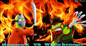 Homero X vs Willie Krueger by guilleapi