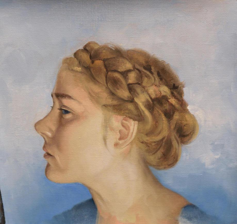 Unfinished portrait study by liquidclouds