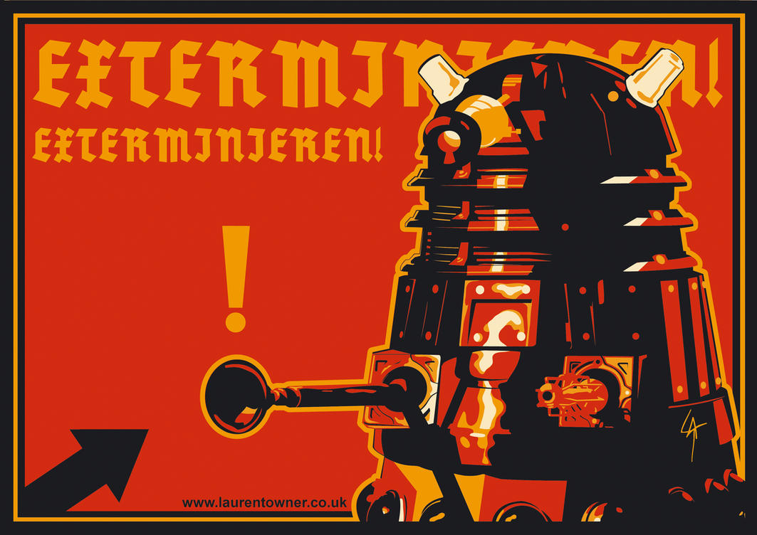 Doctor Who Wallpaper Dalek Exterminate German Dalek - Extermi...
