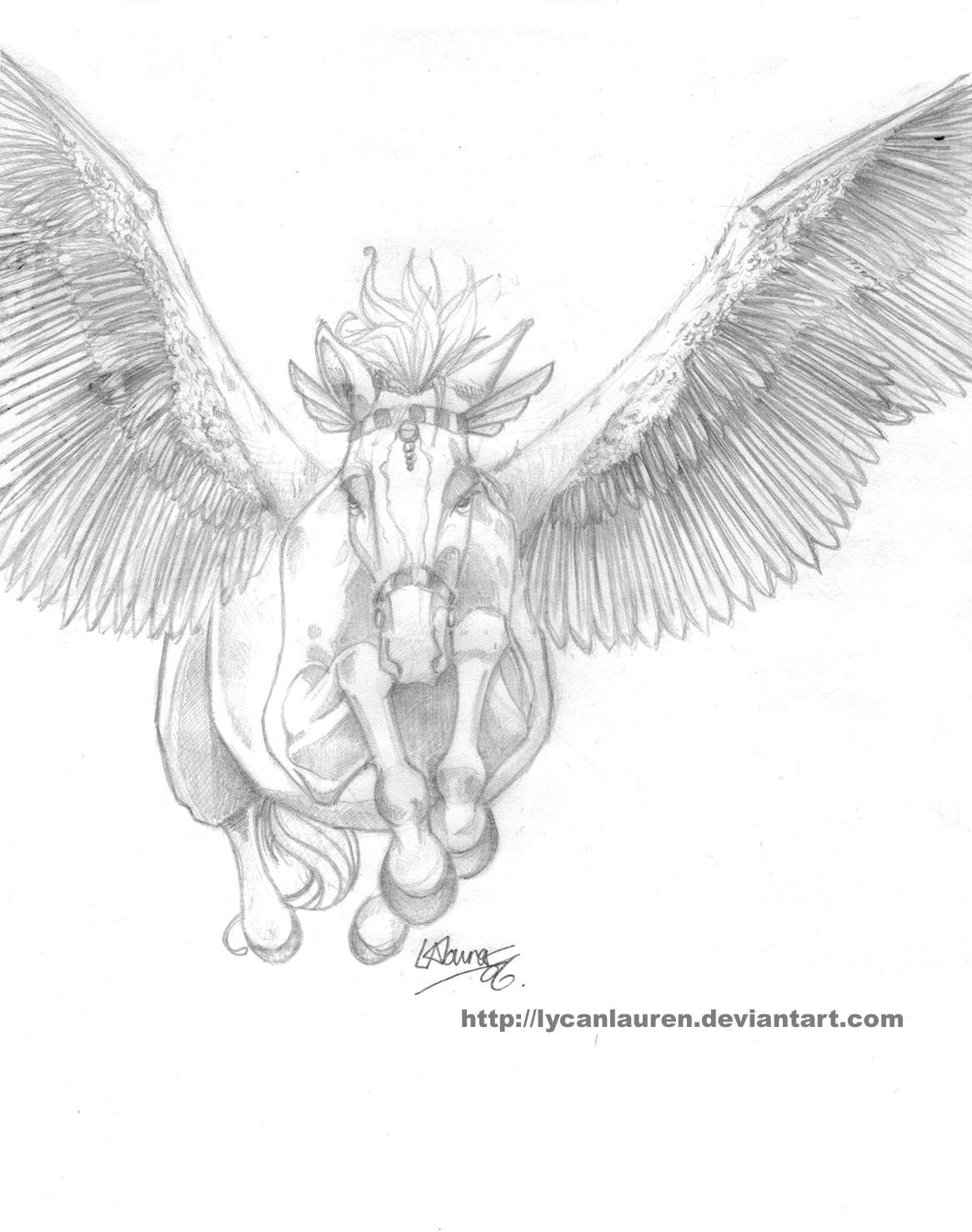 flying horse by lycanlauren on deviantart