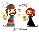 Jack Sparrow Vs. Red Shanks