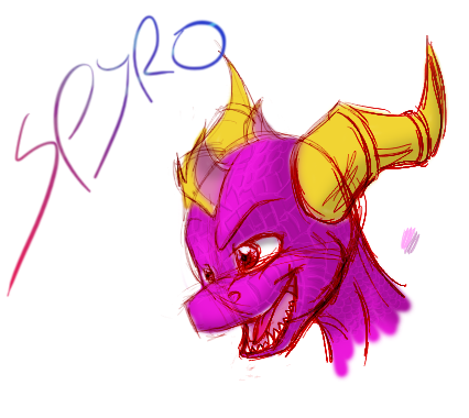 sketch-spyro by the-dragon-heart