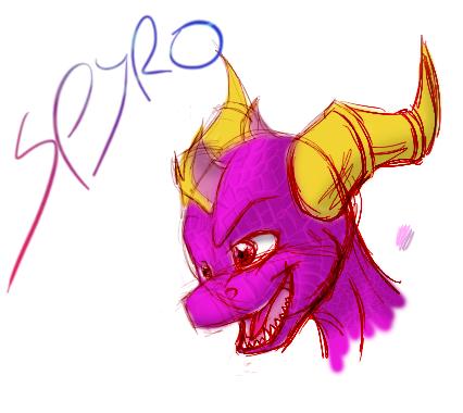 sketch-spyro by the-dragon-heart