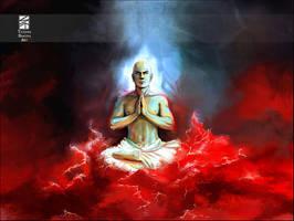 Buddha in the Ocean of Blood by Tatiax