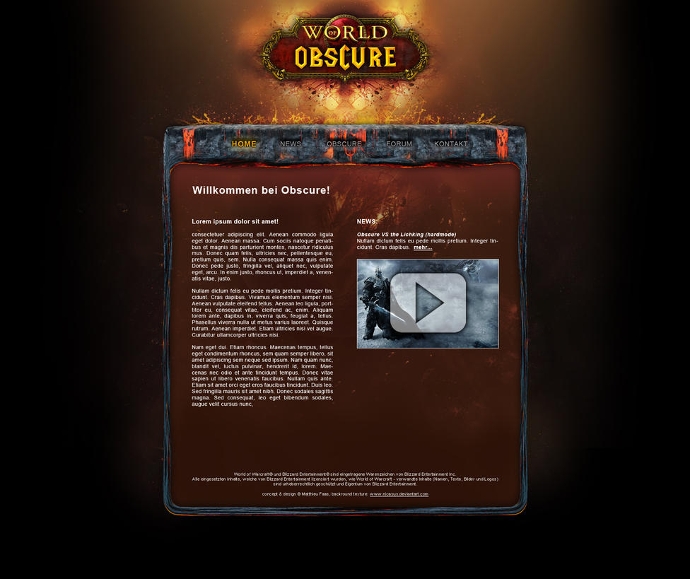 wow cataclysm guild page by mad murdoc on deviantart