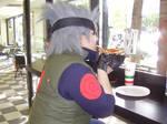 Kakashi Eating Cosplay