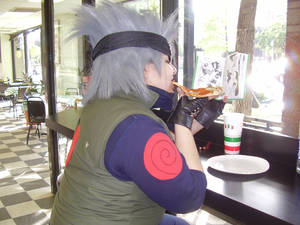 Kakashi Eating Cosplay