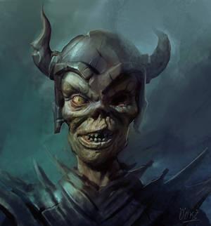 undead warrior portrait