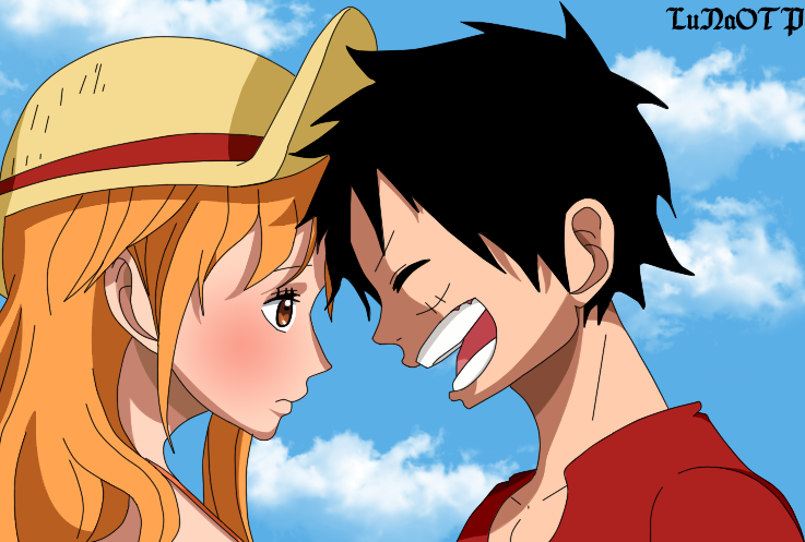 one piece strong world luffy and nami meet