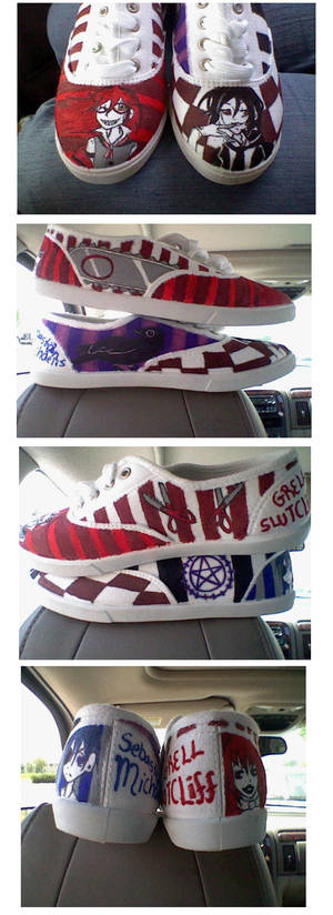 Custom Shoes: Kuroshitsuji