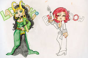 WIP: PSG Lady Loki and Natasha