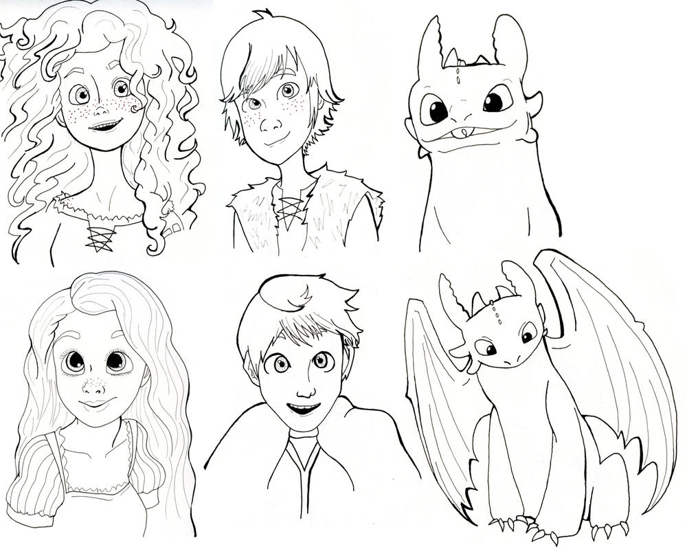 Big Four (and Toothless) by xXimmaeatjooXx