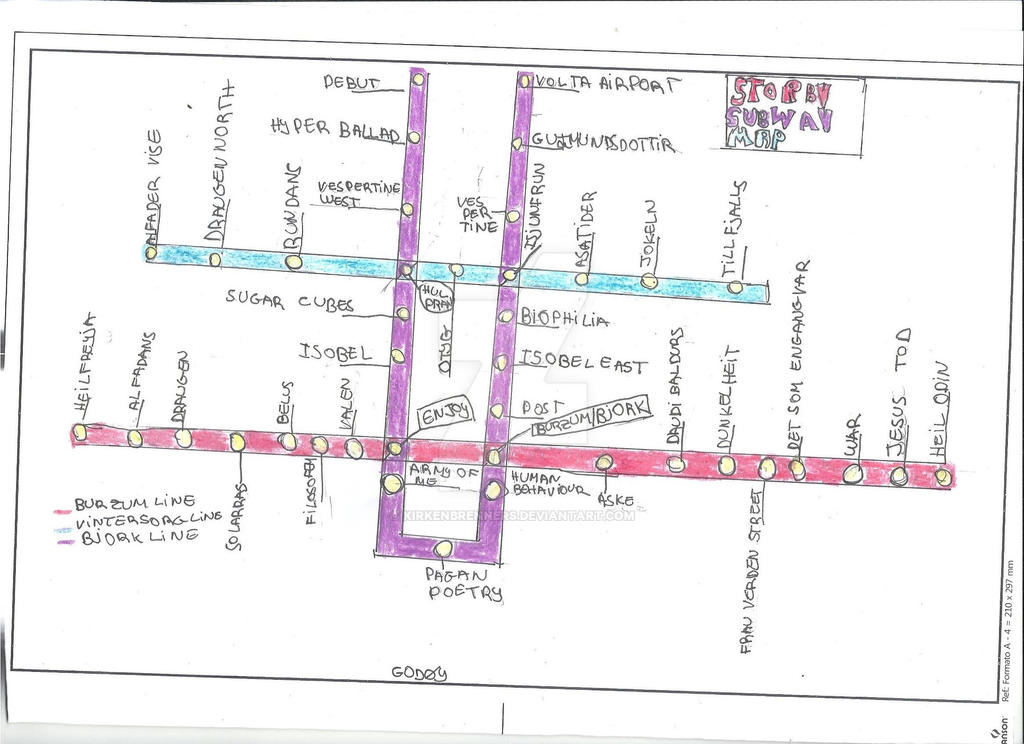 Storby Subway Map by Kirkenbrenners