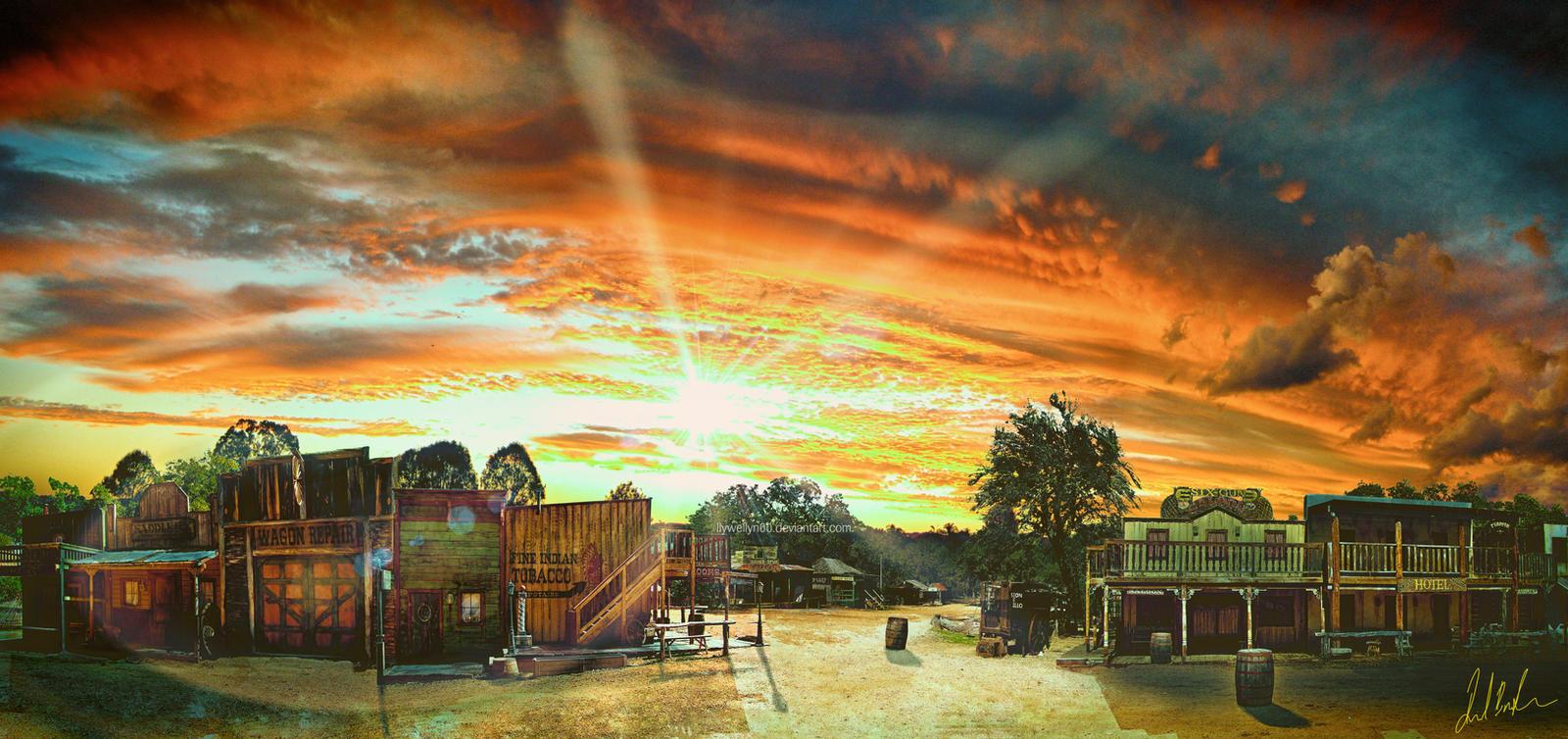♕ SPIRIT BRINGERS: EMPYREAN REALM. (SAGA DE VALAFLAM) - Página 2 Wild_west_town_by_llywellyn00-d5a4p80