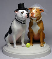 Pit Bull Cake Topper by rgyoung