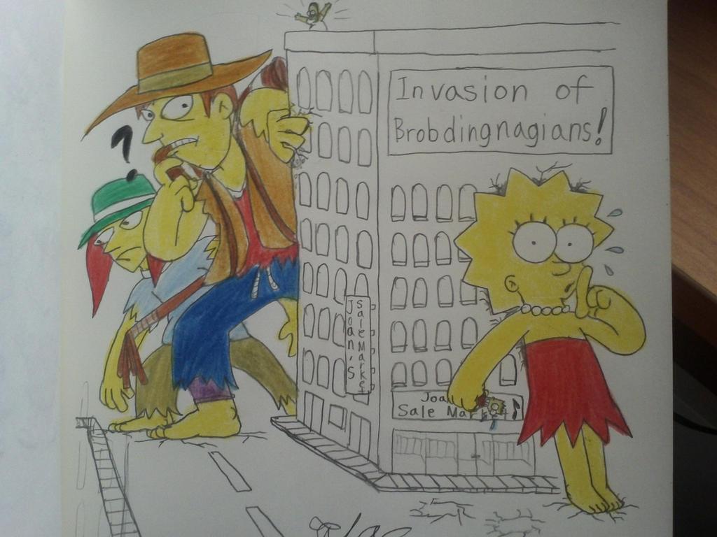 The simpsons:Giantess Lisa met the Brubdingnagians by komi114