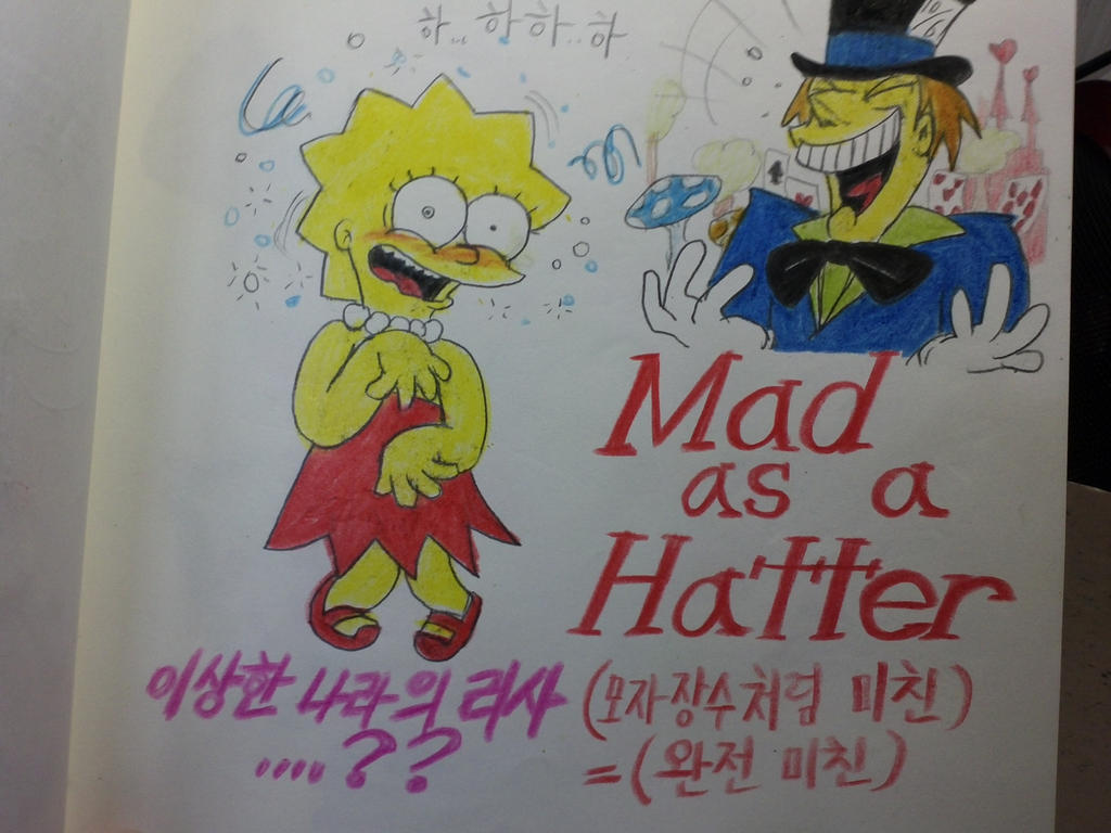 Lisa simpson,Mad as a Hatter by komi114