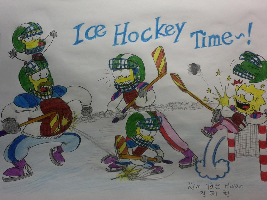 The simpsons: ICE HOCKEY TIME! by komi114