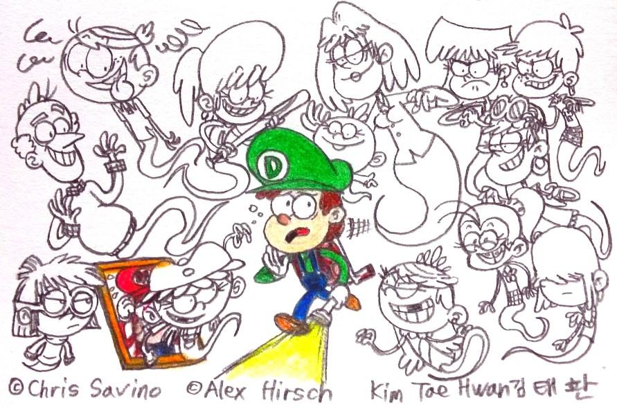 Dipper's Loud Mansion by komi114