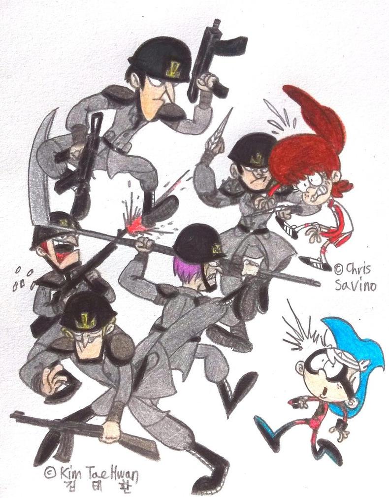 Ace Savvy vs Dark Mate Force! by komi114