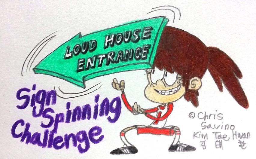 Lynn's Sign Spinning Challenge! by komi114