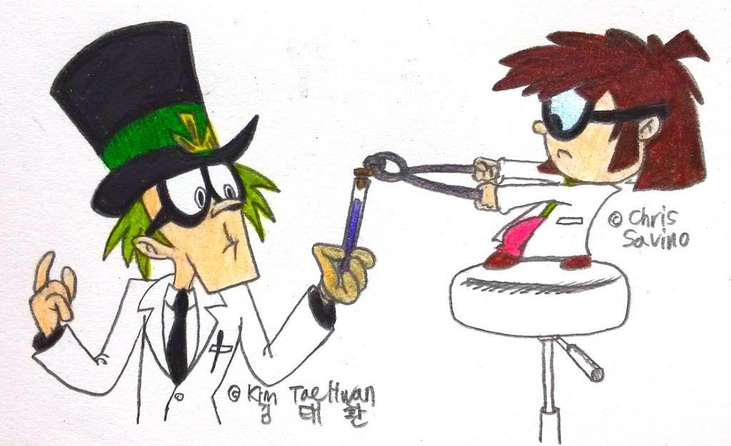 Dr.Weirdo and Lisa Loud by komi114