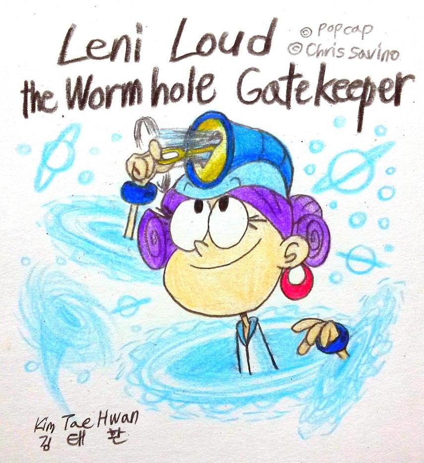 Leni Loud as Wormhole Gatekeeper by komi114
