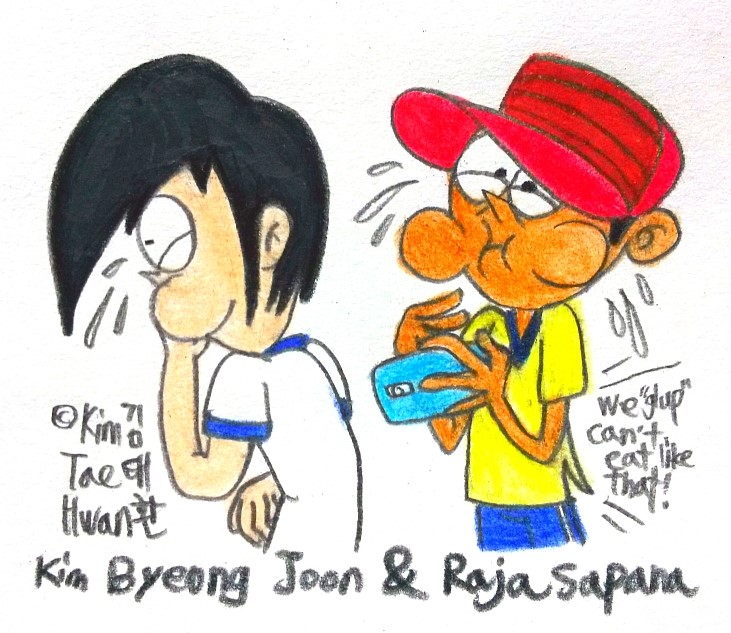 Byeong Joon and Raja's Reaction! by komi114