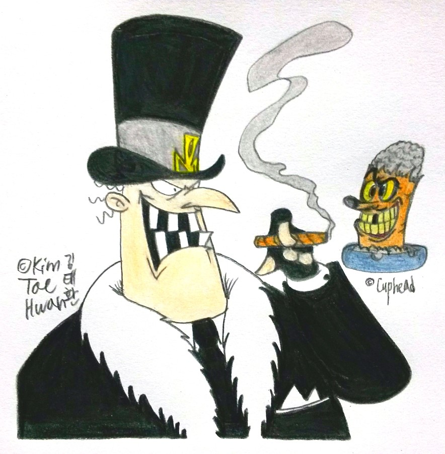 Douglas Moneyworth and Mr.Wheezy by komi114