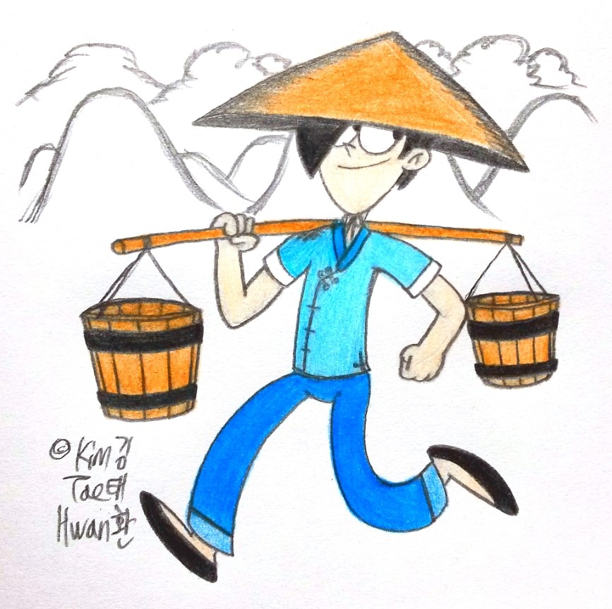 Kim Byeong Joon as Chinese Water Deliever by komi114
