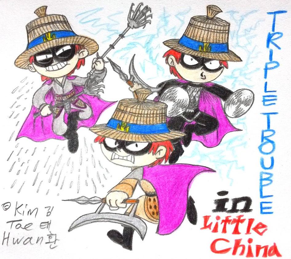 Triple Trouble in Little China! by komi114