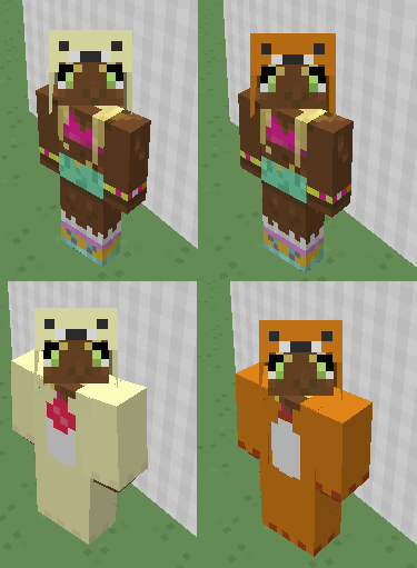 Rilakkuma Minecraft Armor By Hormonal On Deviantart