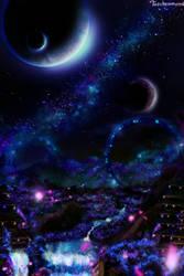 Galaxy Of Purple Stars by SunayaART
