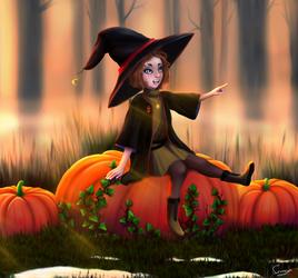 Pumpkin Witch by SunayaART