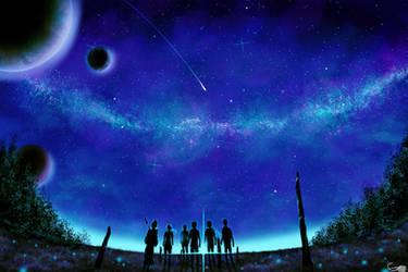 Stars Over Us by SunayaART
