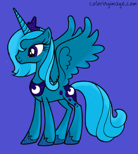 Luna coloring by chloedahlia on deviantart for Sonic dash coloring pages