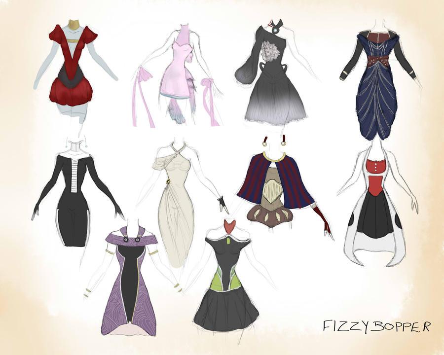 Mass Effect Dress Dump. by Fizzybopper