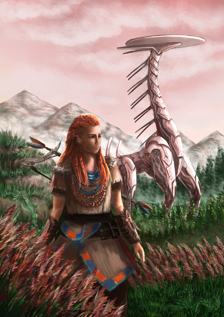 Aloy and Tallneck by Lukto